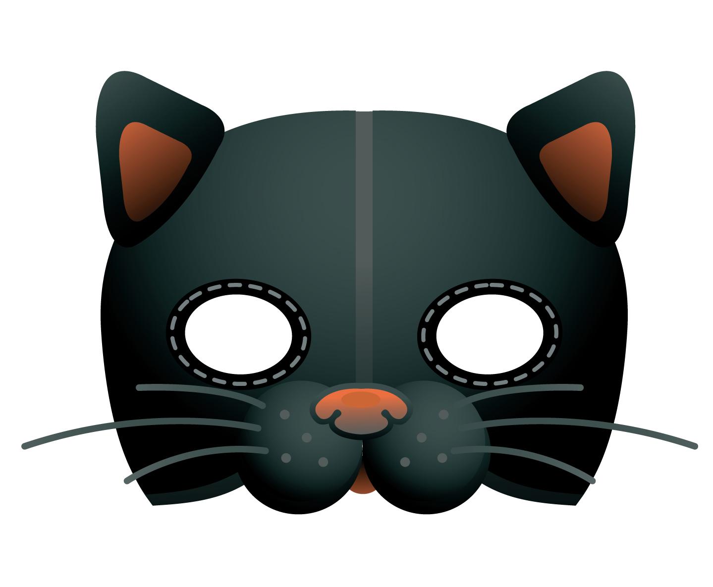Mondobimbo sito tutto dedicato ai bambini con giochi - Pagina colorazione maschera gatto ...